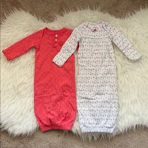 Carters - Two pack sleeper gowns for NB to 6 mths